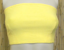 Yellow Bandeau Top