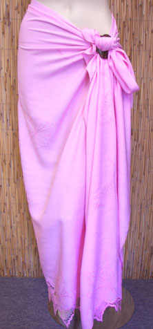 Pink Embroidered Sarong